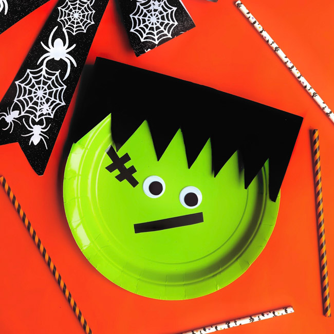 A perfect Halloween Craft for Kids, create a Frankenstein Paper Plate Craft with just a handful of supplies and easy-to-do steps!