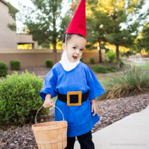 Perfect for an easy, last-minute costume, whip up this No-Sew Garden Gnome Costume in just minutes with everything you need from Michaels Stores!