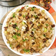 This Easy Instant Pot Stuffing Recipe is quick and delicious! With simple ingredients, save room in your oven this Thanksgiving by making this popular dish in your pressure cooker!