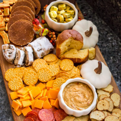 Perfect for Thanksgiving breakfast, brunch, snacks and more - put together this easy Thanksgiving Brunch Board to satisfy family and friends before the big meal!