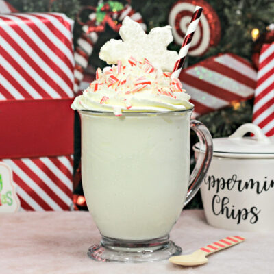 Perfect for chilly, winter nights, whip up some delicious, sweet and warm Candy Cane Hot Chocolate!