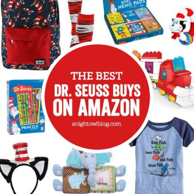 A collection of fun Dr. Seuss games, toys and books for Read Across America and Dr. Seuss celebrations, check out the Best Dr. Seuss Buys on Amazon.