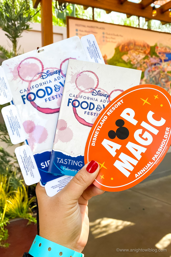Sip and Savor Pass, Festival Passport and AP Magic Happens Magnet | Disney California Adventure Food and Wine Festival 2020