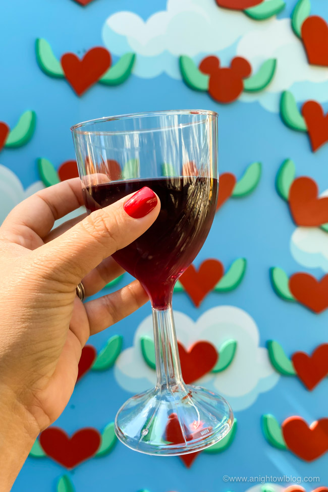Lolea Red Sangria from I Heart Artichokes | From Mickey-Shaped Macarons to the Carbonara Garlic Mac & Cheese, there are so many great bites and brews to discover at the Disney California Adventure Food and Wine Festival!