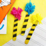 Dr. Seuss Truffula Tree Bookmarks