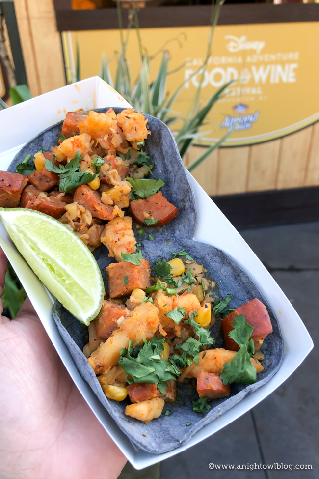 Shrimp Boil Tacos from Off the Cobb | Disney California Adventure Food and Wine Festival 2019
