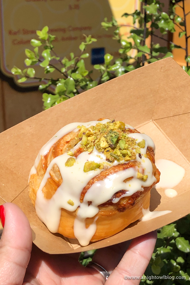 Ham and Vella Jack Cheese Pinwheel at Nuts About Cheese | Disney California Adventure Food and Wine Festival 2019