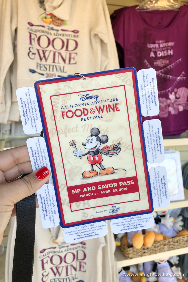 Sip and Savor Pass | Disney California Adventure Food and Wine Festival 2019