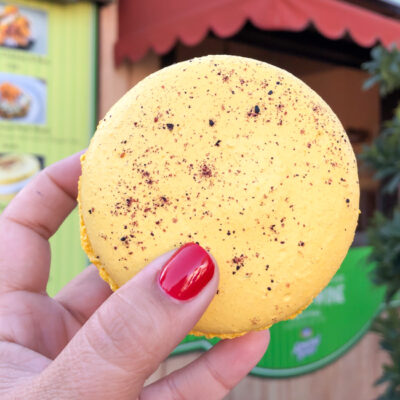 Meyer Lemon Blue Diamond® Almond Macaron | Disney California Adventure Food and Wine Festival 2019