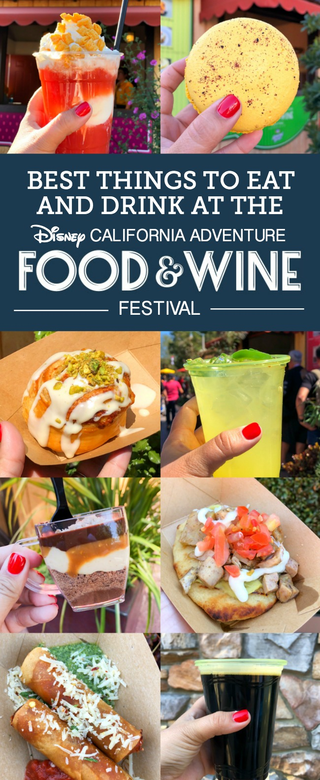 From Meyer Lemon Macaron to the Ghost Pepper Mac & Cheese, there are so many great bites and brews to discover at the Disney California Adventure Food and Wine Festival!