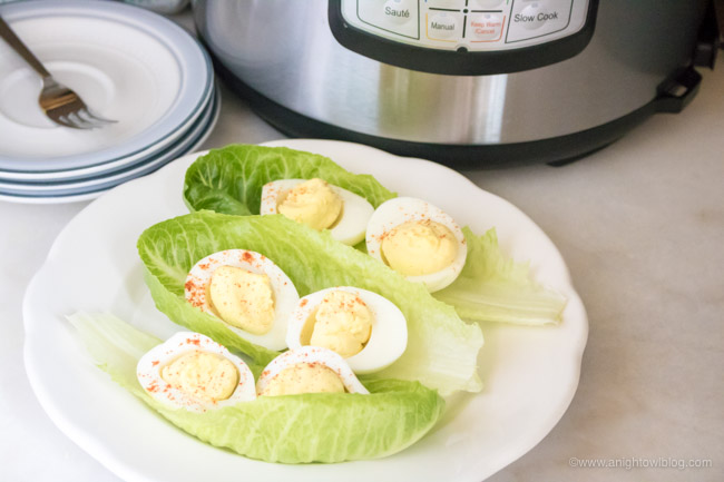 Instant Pot Deviled Eggs are easy to make with the help of your pressure cooker and a few simple ingredients!