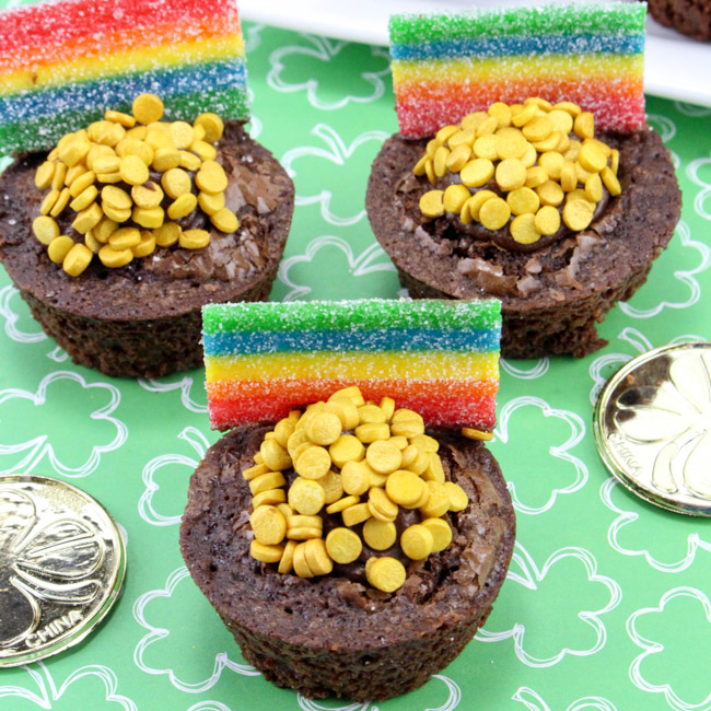 These St. Patrick's Day Brownie Treats are so cute and a breeze to make with just a few store-bought ingredients.