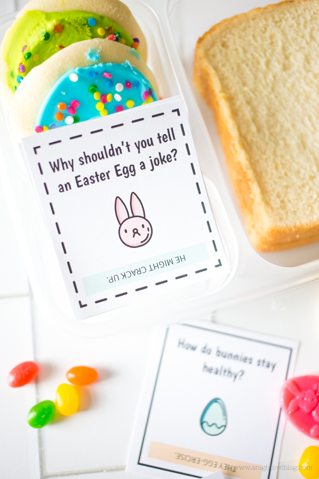 Download and print these <strong>Easter Lunch Box Jokes</strong>, perfect for your kiddos lunch box or Easter Baskets!