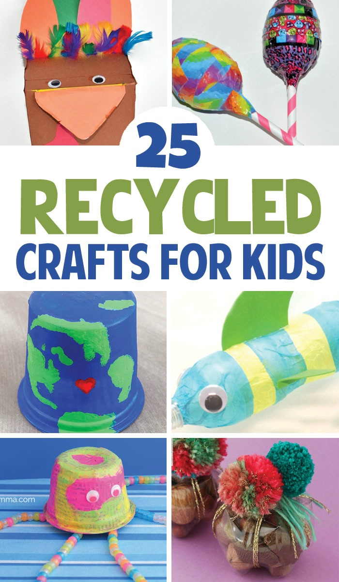 From T-Shirt Bracelets to Glow in the Dark Jellyfish, check out these creative and fun Recycled Crafts for Kids!