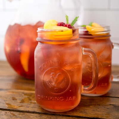 The perfect summer sip, whip up a batch of Skinny Sweet Tea Sangria with Celestial Teas!