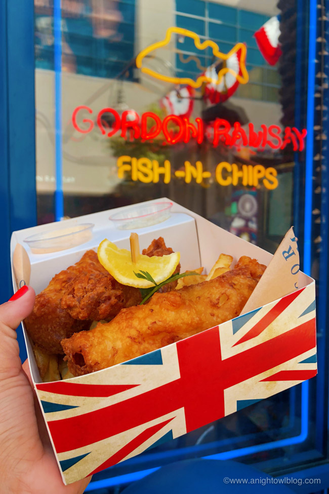 Basket of Fish and Chips at Gordon Ramsay Fish-N-Chips