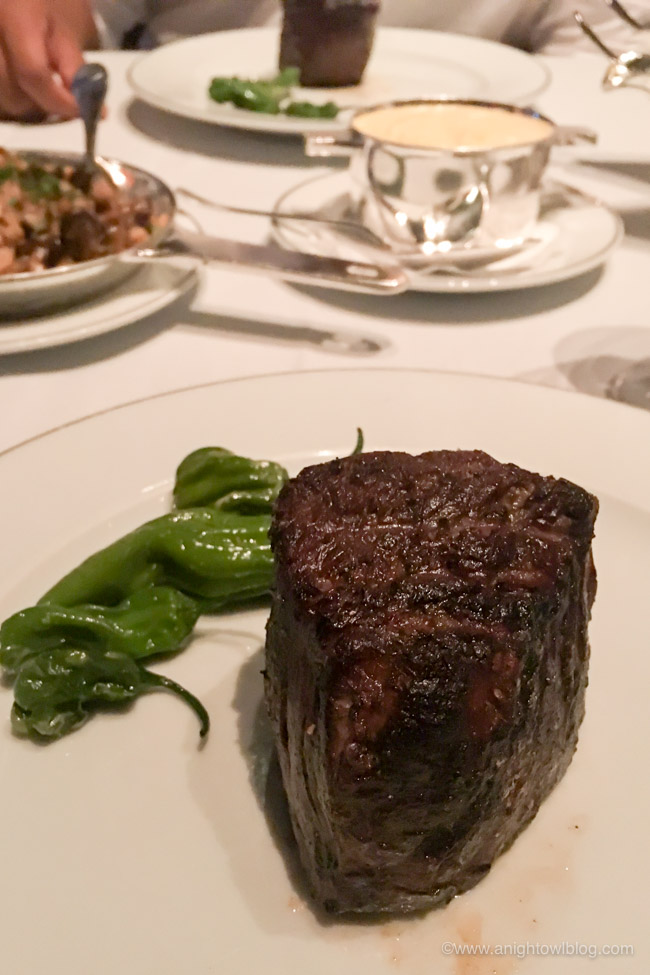 Filet Mignon at Prime Steakhouse