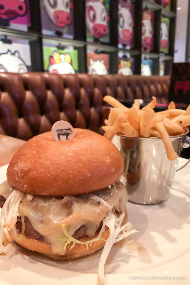 Burger and Fries at Holsteins in Las Vegas