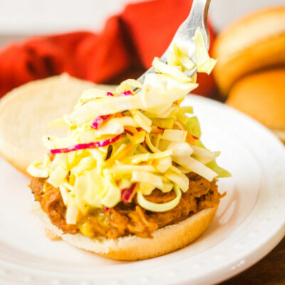 Stubbs BBQ Pulled Pork with Tangy French's Mustard Slaw
