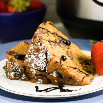 Perfect for the holiday baking season without all of the fuss, whip up an easy and delicious Instant Pot Peanut Butter Chocolate Chip Cake that your family and friends are sure to love!