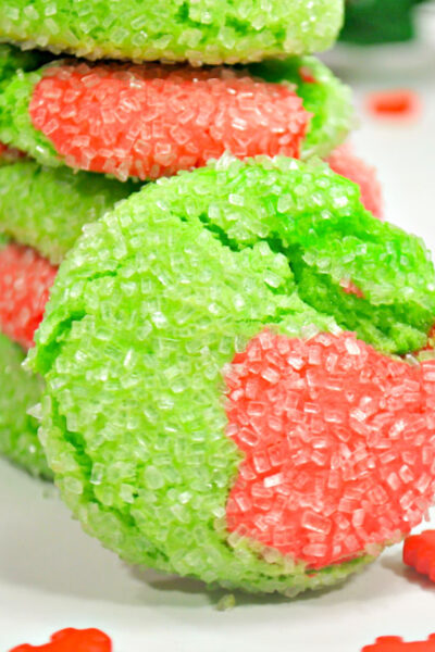 Perfect for your Grinch movie night, whip up these delicious and Easy Grinch Crinkle Cookies!