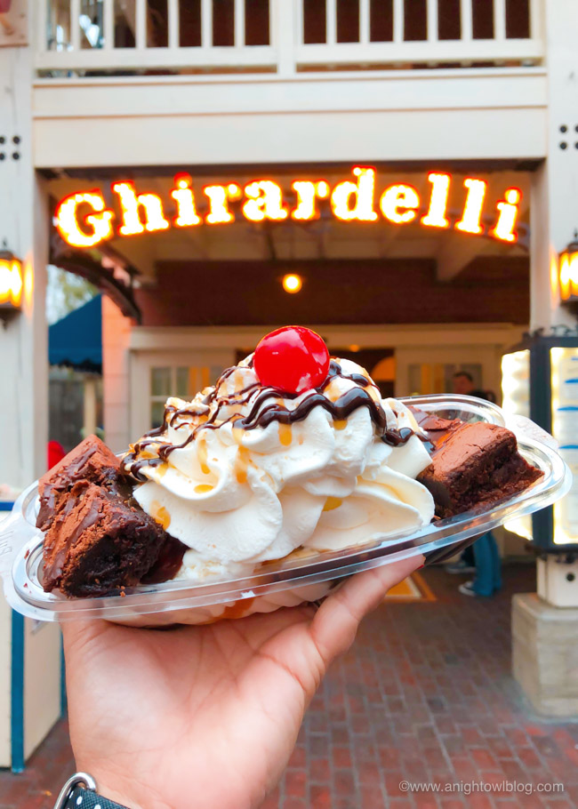 Lands End Salted Caramel Brownie Sundae from Ghirardelli Soda Fountain and Chocolate Shop