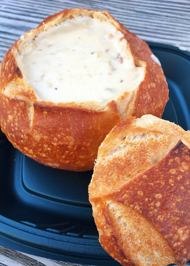 Soup in a Sourdough Bread Bowl from Pacific Wharf Café