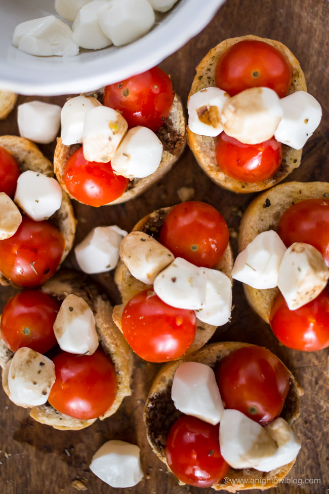 A perfect appetizer or party snack, our Easy Balsamic Bruschetta comes together in just minutes with a few simple ingredients!