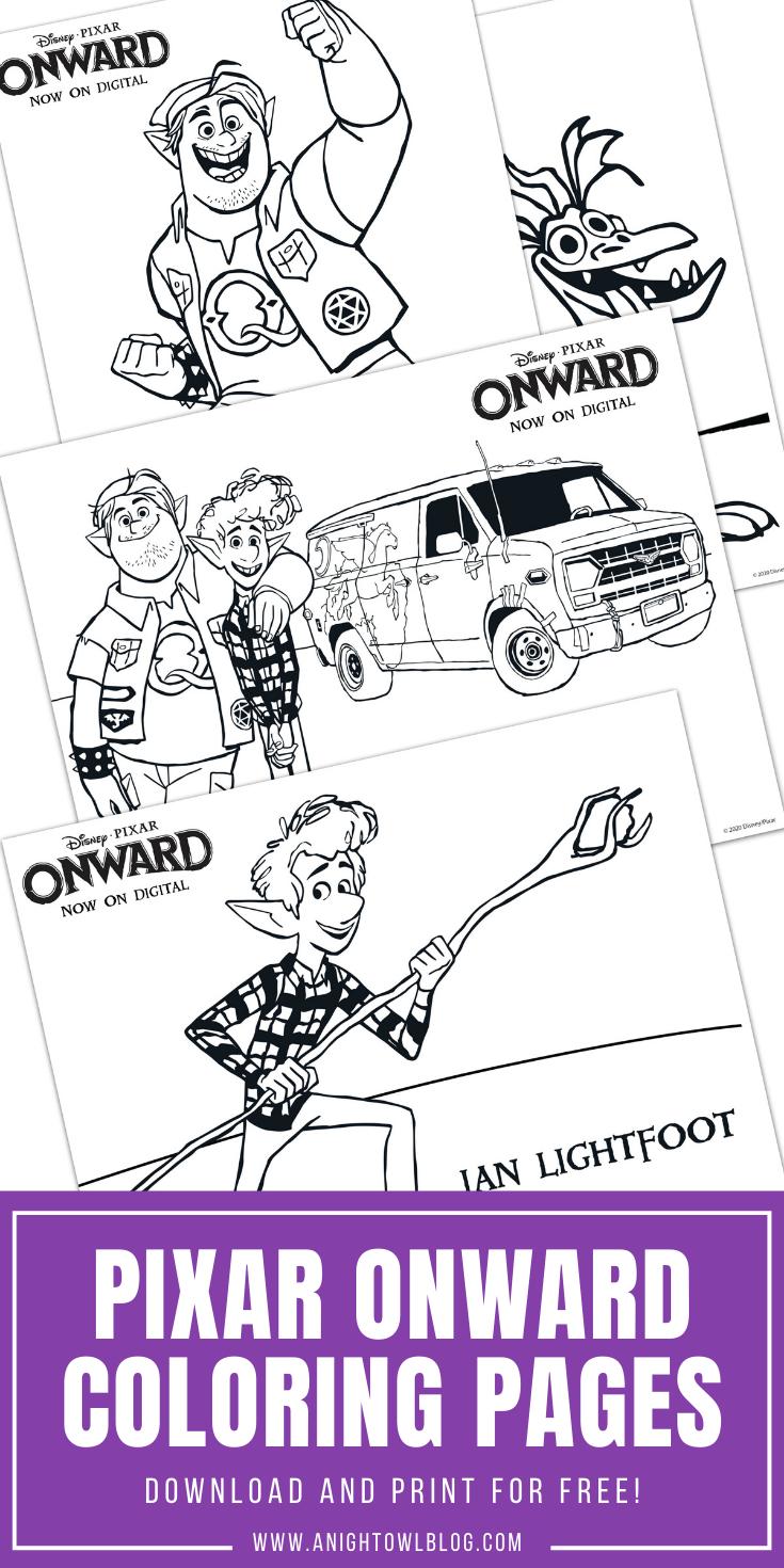 Pixar Onward Coloring Pages