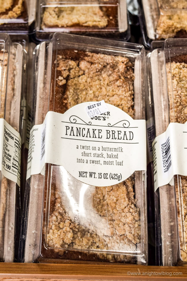 Perfect for breakfast or brunch, this Copycat Trader Joe's Pancake Bread recipe is a twist on a buttermilk short stack, baked into a sweet, moist loaf.