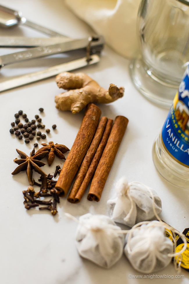 tea bags and spices